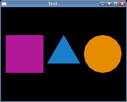 Screenshot of a purple square, blue triangle, and orange circle.
